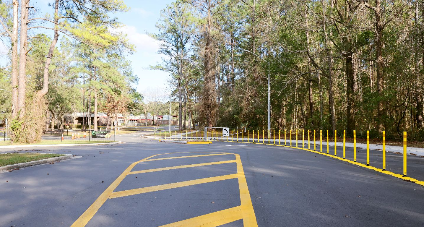 Parking Lot Entry to Wiles Elementary
