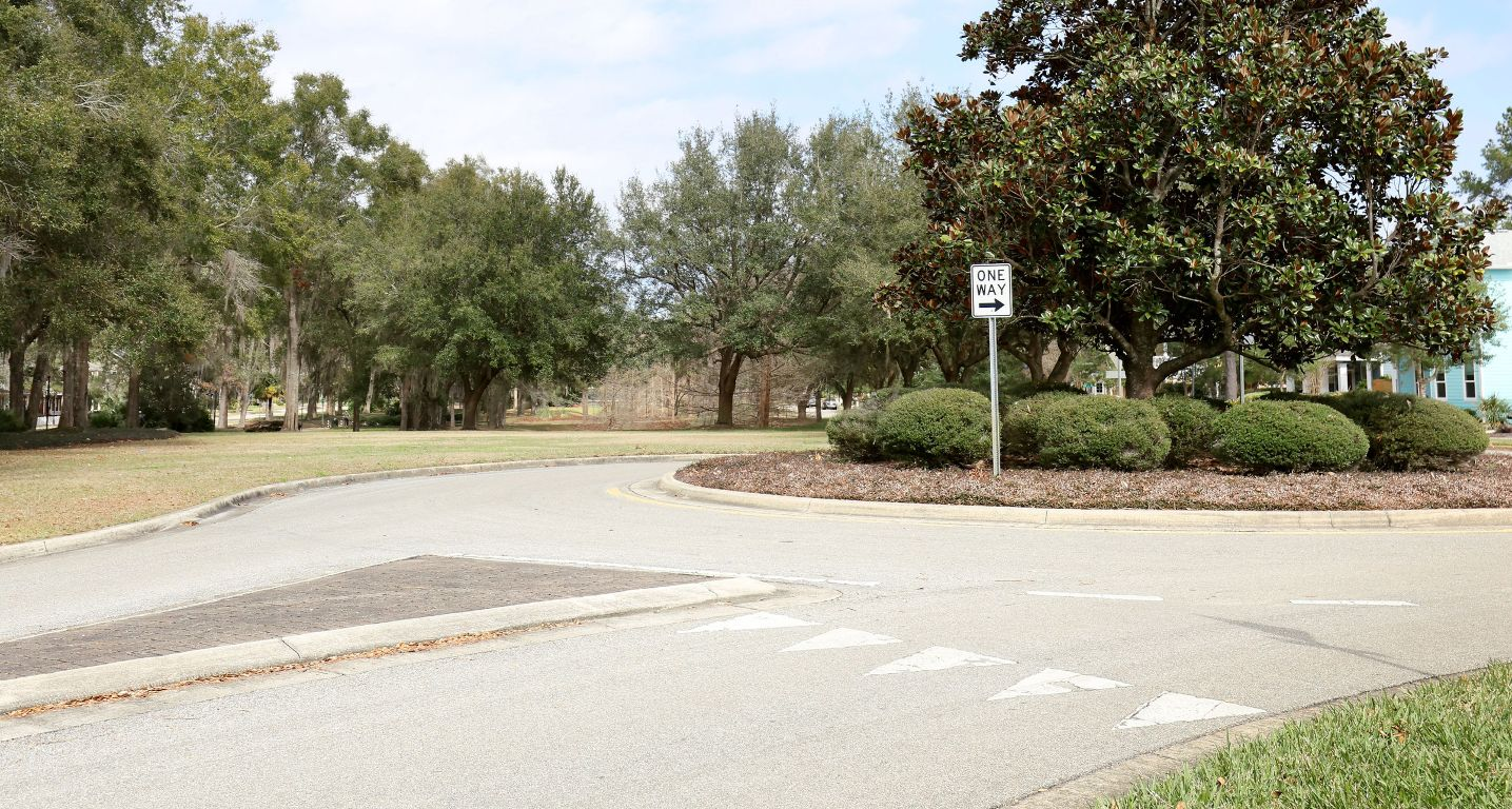 Roundabout in Town of Tioga