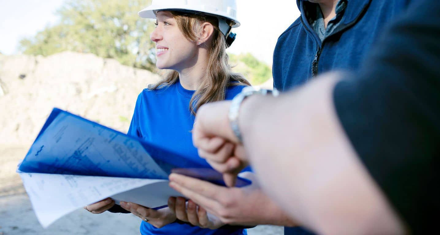 Engineer overseeing Construction Site