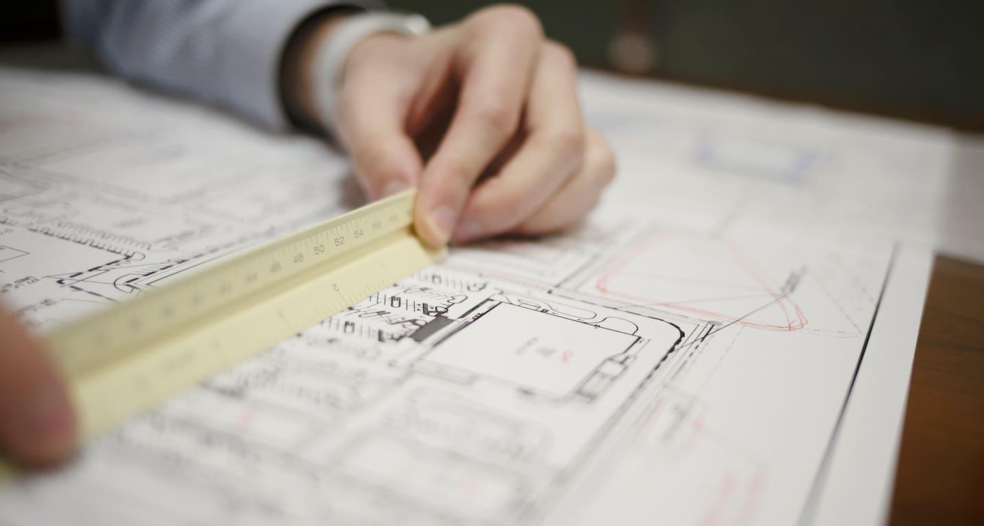 Engineer Looking over Plans