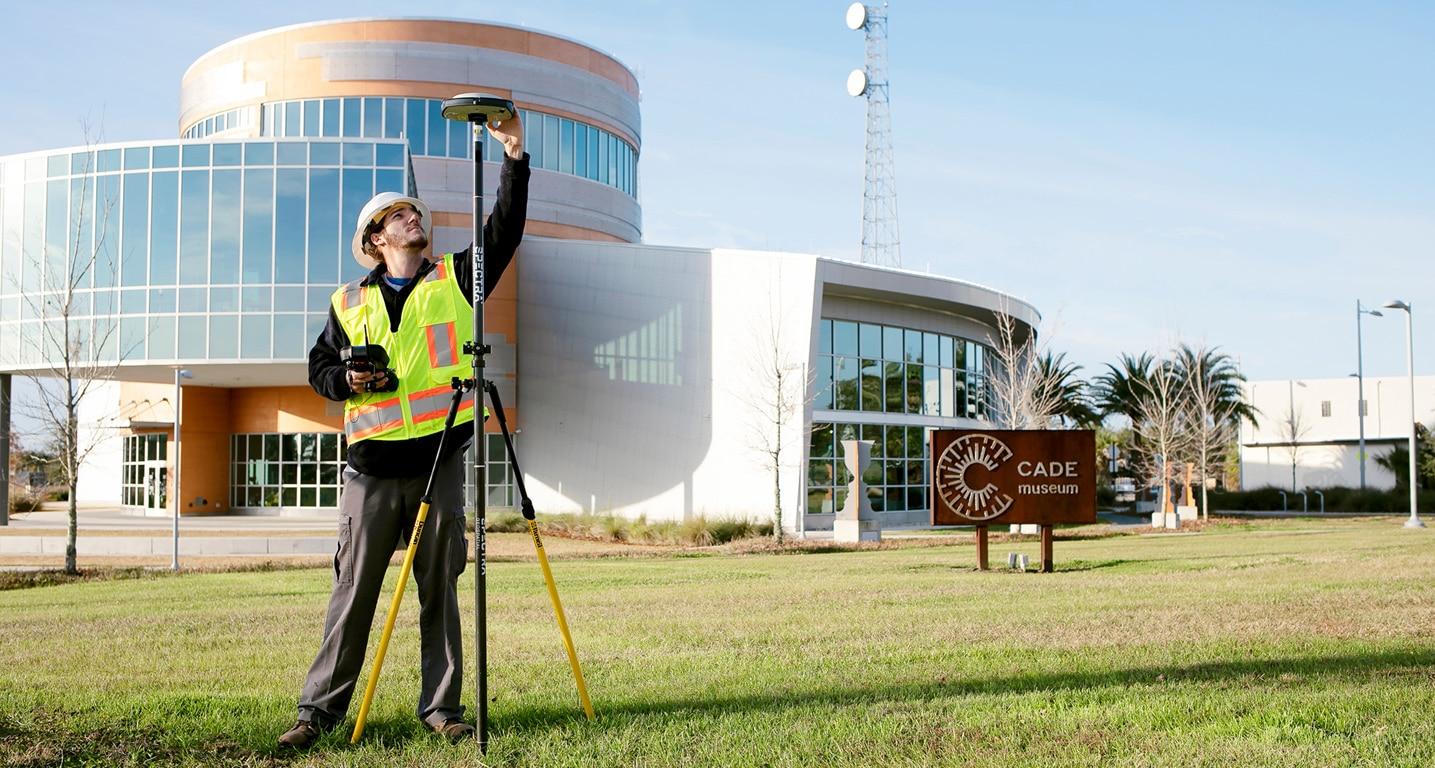 Land Survey in front of the Cade Museum